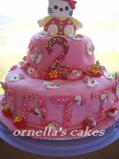 Hello Kitty - la mia prima torta decorata