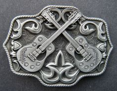 TWO GUITARS COUNTRY MUSIC WESTERN BELT BUCKLE BELTS BUCKLES BOUCLE DE  CEINTURE d4f62e7866b