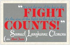 Fight counts!