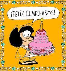 Saludo de Mafalda de cumpleaños.