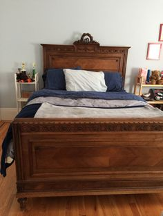 Antique Bed, restored and modified to modern Queen Size