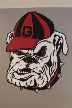 UGA University of Georgia Large Bulldog Head Decal University Of Georgia, Jiu Jitsu, Sick, Georgia Bulldogs Football, Bulldogs Team, Panthers Football, Bulldog Mascot, Bulldog Cartoon, Shoes Online