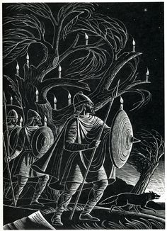 St Peter's Candles - illustration by Eric Fraser from Folklore Myths and Legends of Britain (1973).