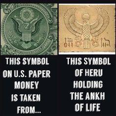 USA dollar bills made in image of Ancient Babylon symbols. Whole world is lying in power if Satan,Jesus said