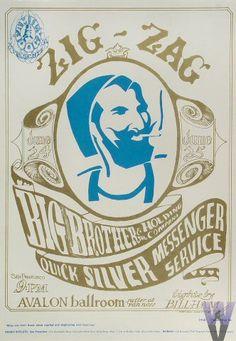 1960s Zig Zag Man Poster