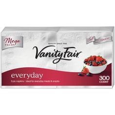 Vanity Fair Everyday Napkins, 300 count for $5.00