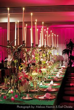 These unique candelabras look like vines or branches and would look great in a garden or enchanted forest themed wedding