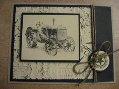 Vintage Tractor  Handmade Card by HenningCraftsToo on Etsy, $3.00