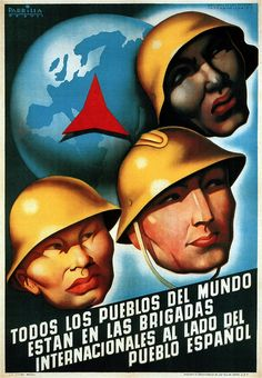 Parrilla. All peoples of the world are in the International Brigades. 1937