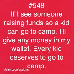 camp quotes Premeir Designs gives money for kids of prisoners to go to camp.reason to host a party! Camping Humor, Camping Life, Summer Camp Quotes, Camp America, Christian Camp, Church Camp, Camp Counselor, Young Life, Confessions