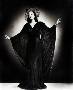 Lucia Carroll c. 1940s. #vintage #Halloween #witch