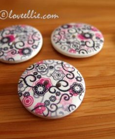 wooden floral buttons available from loveellie.com @LoveEllieBags P7055277