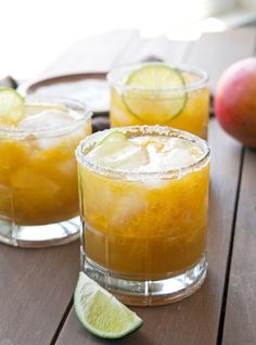 Can't wait to sip these fresh mango margaritas by the pool with the girls this weekend.
