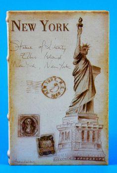 Decorative Faux Book Statue of Liberty New York Coffee Table Bookshelf Decor  #FuijanFurenWoodIndustryCoLtd