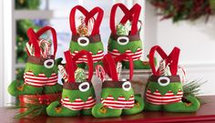 Feriado do Natal do duende Trate Sacos
