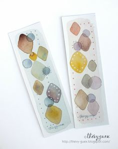 Watercolor Painting Bookmarks by Thévy Guex http://thevy-guex.blogspot.fr/