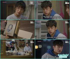 after seeing the headphone which louis order Bok sil gave him a scary gaze and he ran left th ehouse  - Shopping King Louis - Episode 4 (Eng Sub) Seo in guk & nam ji hyun
