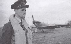 """Following combat off Dungeness on the evening of 31 August 1940, F/L Forgrave M """"Hiram"""" Smith of No 72 Squadron RAF found cannon shell shrapnel exploding in the cockpit and penetrating his head, neck, shoulders and arm. With Spitfire Mk I RN-L spiralling down out of control, the 27-year-old Canadian climbed out but was pinned to the rear of the cockpit by the slipstream. Hanging half in and half out, he came clear, drifting down to a hard but safe landing."""