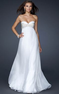 White Sparkle Dress | La Femme 17332 Sequin Strapless White Prom Dress Night Long 2013 On...