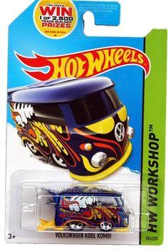 2014 Hot Wheels #201 HW Workshop HW Garage Volkswagen Kool Kombi blue