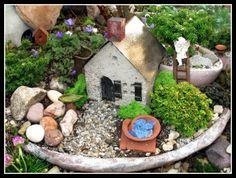 hypertufa village | Miniature Gardens Photo ... | For the yard and ga ...