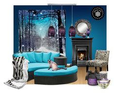 """Snow Day Blues by Lisa~Jo"" by lisajoastle ❤ liked on Polyvore featuring interior, interiors, interior design, home, home decor, interior decorating, Monday, IPANEMA, Buccellati and Uttermost"