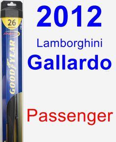 Passenger Wiper Blade for 2012 Lamborghini Gallardo - Hybrid