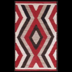 American  - Navajo  Circa: 1930  Origin: USA  Stock Id: #21272   #navajo #antique #nyc #carpet #americannavajo