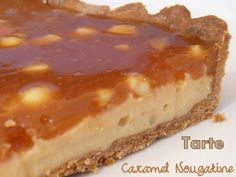 Tarte caramel nougatine Christophe Adam Plus Köstliche Desserts, Delicious Desserts, Dessert Recipes, Cake Ingredients, Torte Nutella, Sweet Recipes, Whole Food Recipes, Tarte Caramel, Plated Desserts
