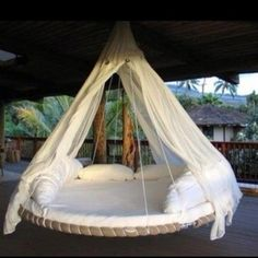 Recycled trampoline..