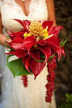 Tropical Bridal Bouquet - Anna Kim Photography