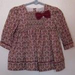 Mayoral Burgundy Printed Dress