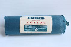 MERITAL Non-Sterile COTTON ROLL, Vintage non surgical bleached cotton roll, vintage medical item, vintage collectible medical supply - pinned by pin4etsy.com