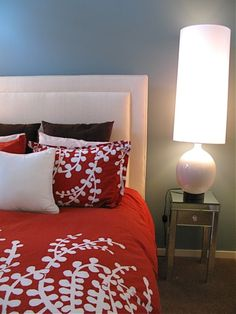 Get This Look (On a Budget):  Blue & Red Bedroom     Shopping Guide