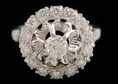 Vintage Jewels? Yes, please. Diamond #ring. #EBTH
