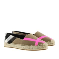 Schuh, Burberry, Hodgeson Espadrilles Fluo Bright Pink