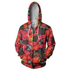 Zip Hoodie - Summer Berries Zip Hoodie