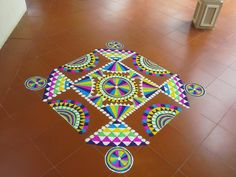 Rangoli Designs Diwali, Rangoli Designs With Dots, Kolam Designs, Mehndi Designs, Diya Rangoli, Rangoli Ideas, Beautiful Mehndi Design, Beautiful Rangoli Designs, Corner Rangoli