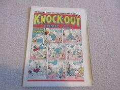KNOCK-OUT COMIC & MAGNET-No 105-1st- March 1941-Beano,Dandy-rare War time Comic