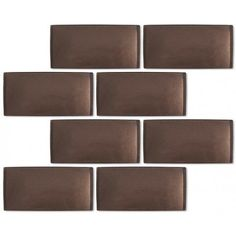 Crush-Sold by the Box Brown 3'' x 6'' Glass Glossy Tile