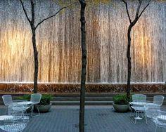 Festive Waterfall, Samuel Paley Park, Midtown
