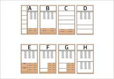 Ejemplos de distribución interior de armarios empotrados