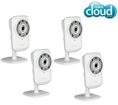 D-LINK Set di 4 telecamere IP WiFi-N mydlink con visione notturna Security Surveillance, Surveillance System, Ip Camera, Best Camera, Nikon, Sony, Video Security, Consumer Products, Fujifilm Instax Mini