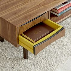 Color pop of yellow | drawer | media console | furniture design