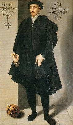 Sir Thomas Gresham by an artist of the Flemish School, 1544. (The Mercers' Company)