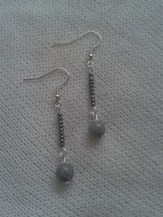 Gray Dangle Earrings by TheEarringForge on Etsy, $8.00