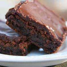 """These are famous as the BEST BROWNIES EVER! Word to the wise....double the recipe and put in a 9x13"""" pan b/c the 8x8"""" pan won't be enough!"""