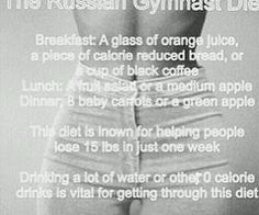 Russian Gymnast Diet ~ Starting 11/28/14 - Member Diets - Forums and ...