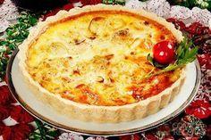 Quiche de alho poró, em Tortas Salgadas, ingredientes: 1 ½ xícara (chá) de farinha de trigo, 6 colheres (sopa) de manteiga, 1 ovo, 2 colheres (sopa) de água, Pitada de sal...