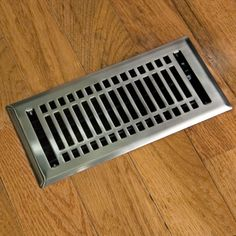 Heavy Duty Contemporary Steel Floor Register with Louvers